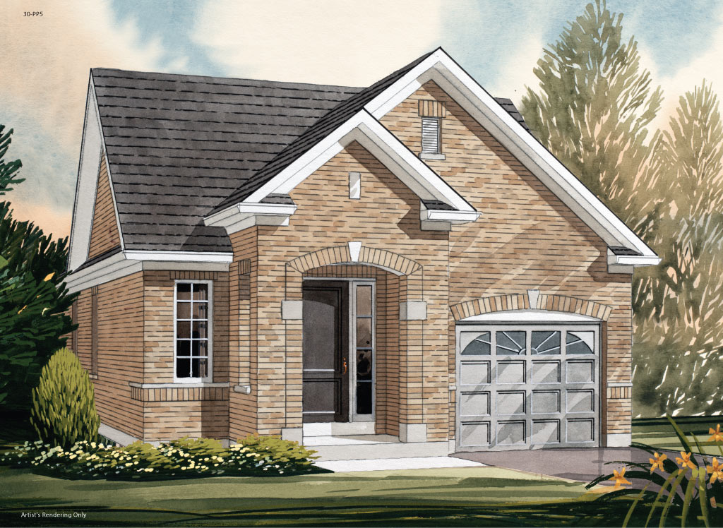 Amesbury A Model Home 1085 Square Foot - Picture Homes New Home Developers