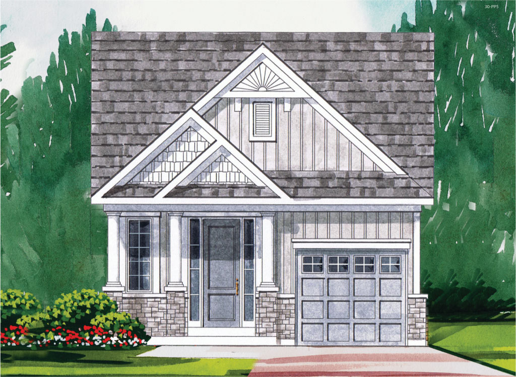 Amesbury B Model Home 1085 Square Foot - Picture Homes New Home Developers