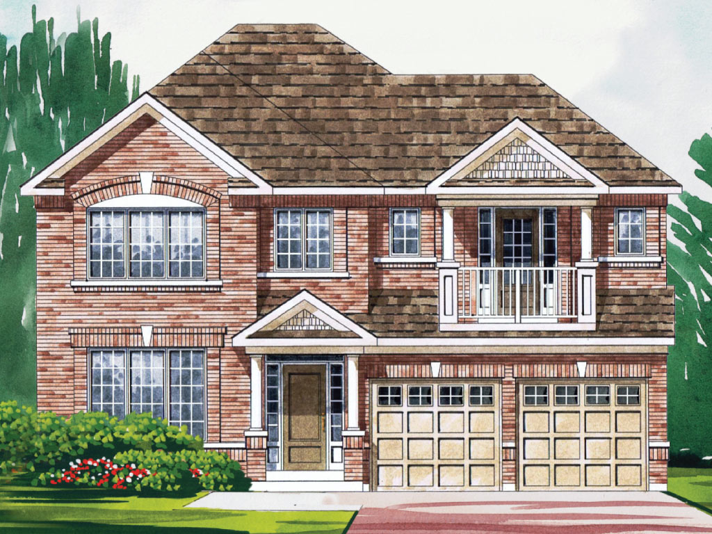 Canterbury A Model Home 3002 Square Foot - Picture Homes New Home Developers