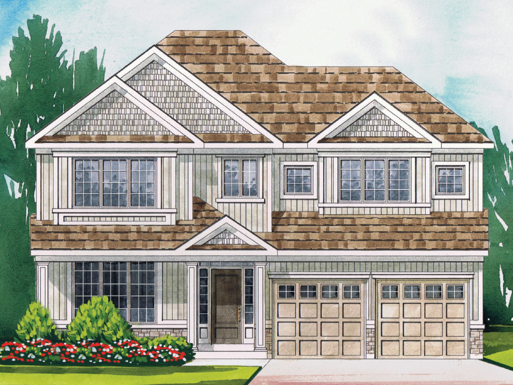Canterbury B Model Home 2964 Square Foot - Picture Homes New Home Developers