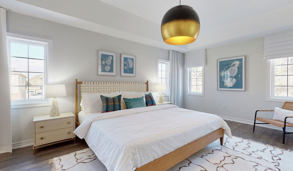 Picture Homes The Hampton Model Home - Master Bedroom With Lots of Natural Light