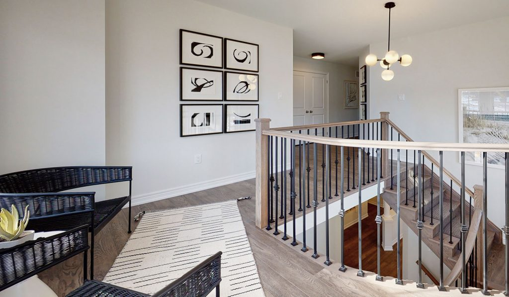 Picture Homes The Hampton Model Home - Second Floor Staircase and Hallway