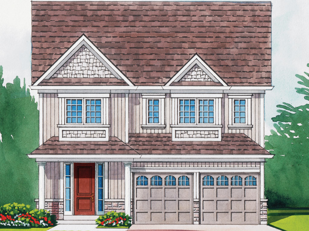 Hampton B Model Home 2558 Square Foot - Picture Homes New Home Developers