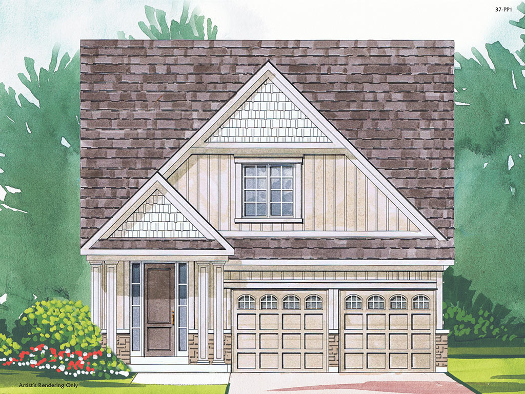 Wellington B Model Home 1868 Square Foot - Picture Homes New Home Developers