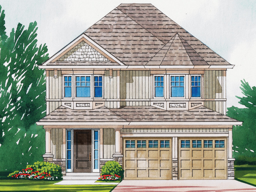 Windsor B Model Home 2441 Square Foot - Picture Homes New Home Developers